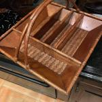 Wicker Utensil Tray