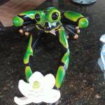 "Frog w/ Lotus Flower 10"""
