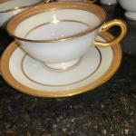 "(10) Lenox Vernon Coffee Cups 4"" w/ Saucers 5"""
