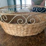 Metal and wicker basket