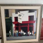 Outdoor cafe scene painting