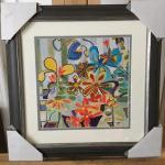 """JOAN ELAN DAVIS """"Happy Snappy Garden"""" Original Lithograph. LOT 56"""
