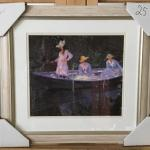 "CLAUDE MONET ""La Barque at Giverny"" Lithograph and Frame. LOT 55"