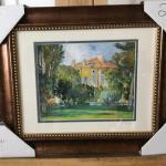 "PAUL CEZANNE """"The House at Jas De Bouffant"" Framed Lithograph. LOT 52"