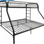 Dhp twin to full bunk bed dark grey