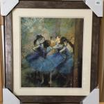 "EDGAR DEGAS ""Blue Dancers"" Lithograph and Frame. LOT 62"