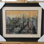 "DARIO MOSCHETTA ""NYC11"" Framed Gallery Litho. LOT 58"