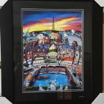 """PERGOLA """"April in Paris"""" Original Lithograph and Frame. LOT 65"""