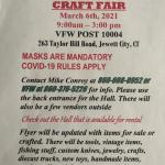 Craft Fair/Flea Market March 6th
