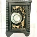 Antique Cast Iron Safe Deposit Coin Bank
