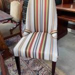Striped armless mid century style chair