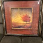 Framed Autumn Leaves 24x24