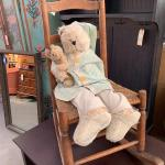 Antique rocking chair with teddy by May Rhyma-Nadig