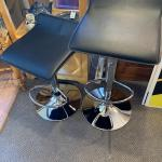 Set of 2 adjustable black stools