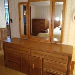 """Solid Wood Chest of Drawers with Mirror by Broyhill (Approx 66"""" x 18"""" x 30"""")"""