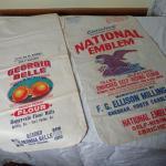 Two Vintage Style Flour Sacks