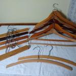 Assortment of Wood Clothes Hangers