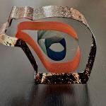 Kosta Boda Signed Numbered Bertil Vallien Glass Art Ribbon Bear