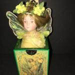 1980s Gorse Fairy Music Box - Rhapsody On A Theme by Paganini - Art by Cicely Ma