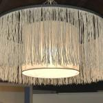 Fringed Swag light Mid Mod Style