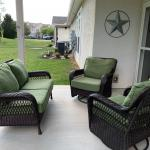 Patio set 2-Rocker glider chairs N one loveseat all w/Cushions