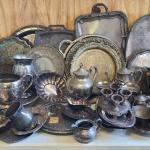 HUGE assortment of silver plate items
