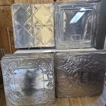 Tin/metal ceiling tiles (used) Over 50 tiles