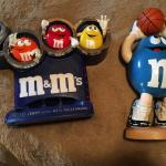 "Two Vintage M&M Store Display 13"" Dispensers"