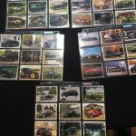 5 Sheets of Vintage Collectible Car Cards