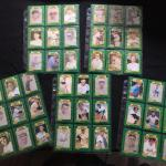 5 Sheets of ALL TIME GREATS Collection Baseball Cards