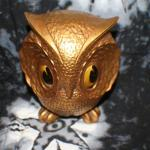 Gold Owl Figurine