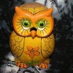 Yellow Owl Teal Light Candle Holder