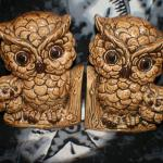 Brown Owl Ceramic Bookends