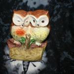 2 Owls on Stump Night Light