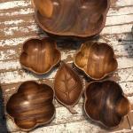 Wooden bowl set 6 pc