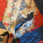 Vintage unfinished quilt -