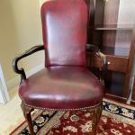 Leather Armed Side Chair/ Desk Chair