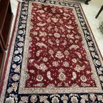 Tabriz 5' x8' Wool & Silk Rug, Made in India