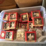 Large bin of various Mary's moo moo figurines