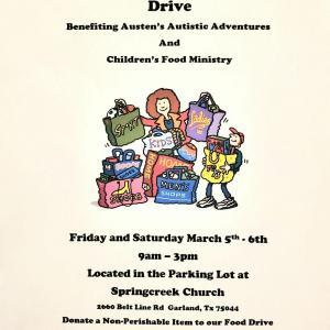 Photo of Community Garage Sale & Food Drive Benefiting Austen's Autistic Adventures