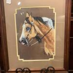 Lot 17 – signed and numbered Julie Woods framed horse print 18 x 22