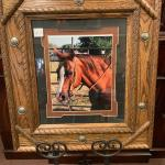 Lot 10 - beautifully wooden  framed horse photograph