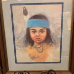 Lot 18 – Jess E Dubois SW Indian framed print 19 x 23