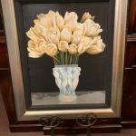 My 13 - Ora Sorenson framed signed giclée white Tulips