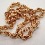 Bronze Plated Gold Rope Chain
