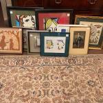 Lot of 9 framed art