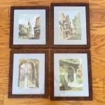 Set of 4 Framed Nola Prints