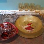 Lot 176: Christmas glassware