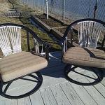 2 Deck Chairs- Metal swivel