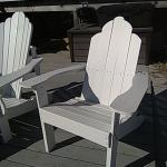 Adirondack Chairs with Ottoman Foot Rest